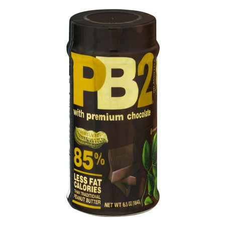 (2 Pack) PB2 Powdered Peanut Butter with Chocolate, 6.5 oz