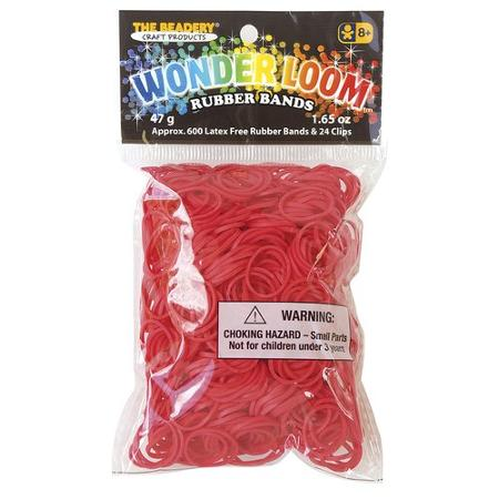 Red rubber bands for the Wonder Loom from The Beadery