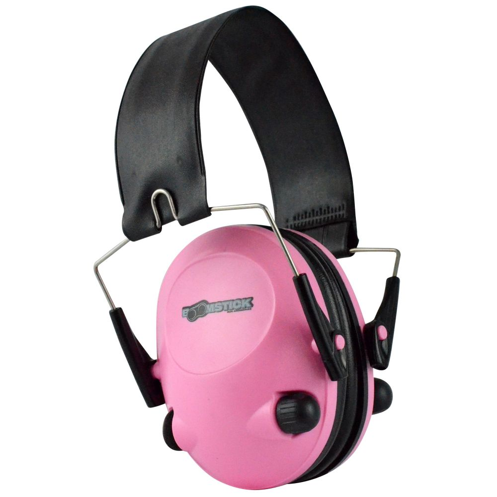 Pink Electronic Ear Muff With 4 AAA