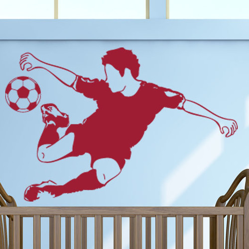 Style and Apply Soccer Star Wall Decal