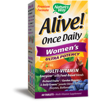 Natures Way Alive! Once Daily Womens Ultra Potency Tablets 60 Ct