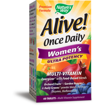Multivitamins: Alive! Once Daily Women's Ultra Potency Multi-Vitamin