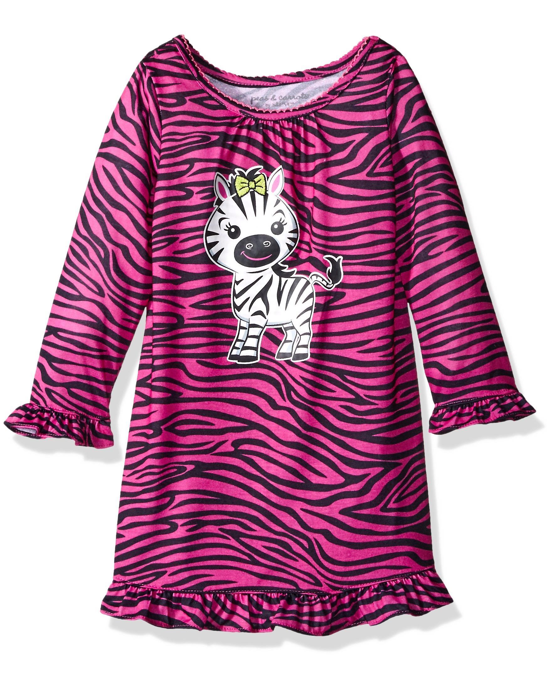 Komar Kids Girls' Zebra Gown, Pink, Size: 3T
