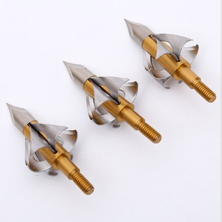 3Pcs Broadheads O Blade 100 Grain Hunting Points Arrow (Flying Arrow Toxic Broadhead 3 Blade 100 Grain)