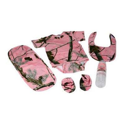 River's Edge Products Realtree AP HD Pink Baby Outfit