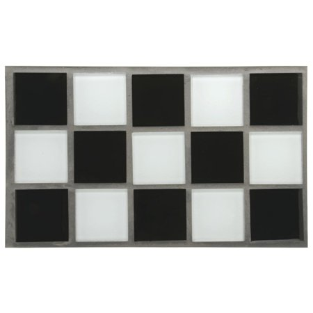 Steam Table Well Covers Hot Food Tiles Black/White Checkered - 21