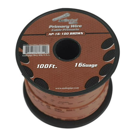 Audiopipe 16 Gauge 100ft Brown Primary Wire - image 1 of 1