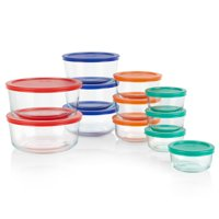Deals on Pyrex 24-piece Simply Store Round Glass Food Storage Set