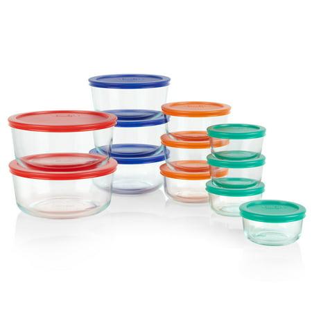 Pyrex 24 Piece Simply Round Gl Food Storage Set