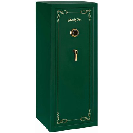 Stack On 16 Long Gun Fully Convertible Security Safe With Combination Lock  Hunter Green