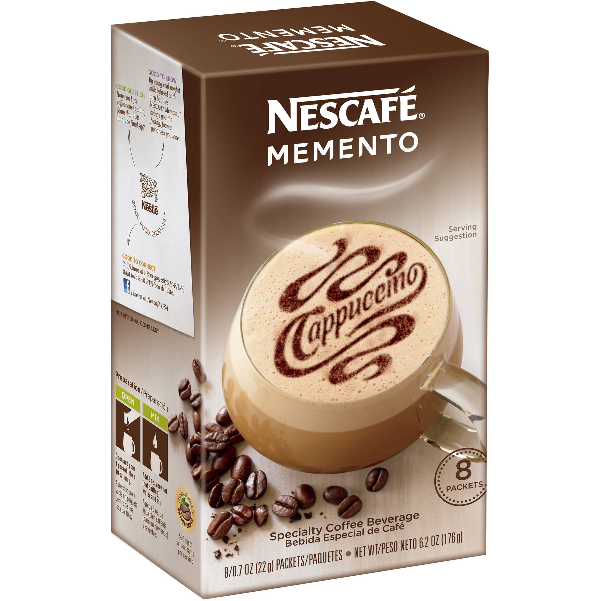 Nestle Nescafe Memento Cappuccino, 8 ea