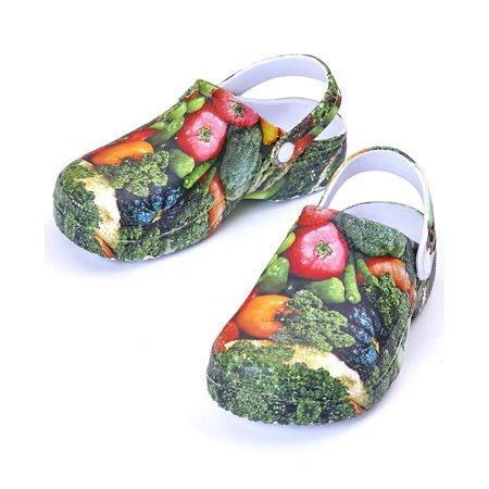 Lightweight Vegetable Print Gardening Clogs -