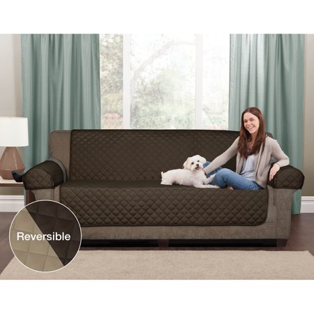 Mainstays Reversible Microfiber 3 Piece Loveseat Furniture Cover Protector ()