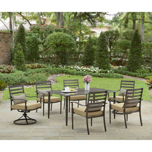 Better Homes and Gardens Sigel Trail 7-Piece Patio Dining Set, Seats 6