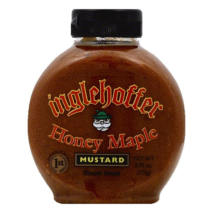 Inglehoffer Honey Maple Mustard, 9.75 OZ (Pack of 6)