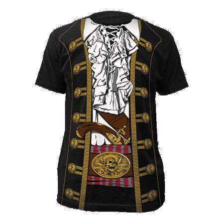 Pirate T-Shirt Costume Captain Hook Morgan Peter Pan Buccaneer Jack Sparrow