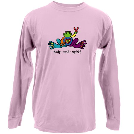 Peace Frogs  Adult Body Soul Spirit Long Sleeve (Frog Prince Long Sleeve)