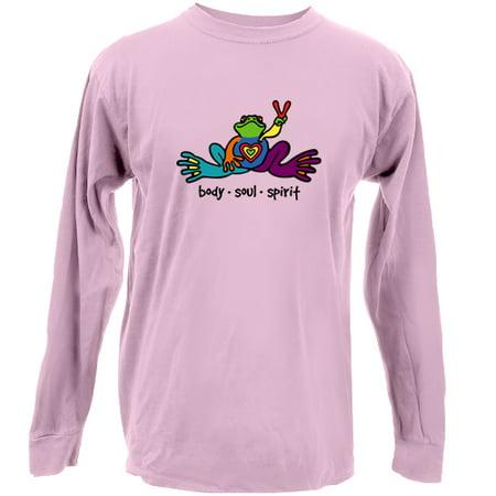 Peace Frogs  Adult Body Soul Spirit Long Sleeve (Frog Long Sleeve Shirt)
