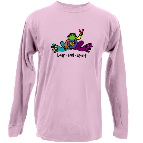 Peace Frogs  Adult Body Soul Spirit Long Sleeve T-Shirt