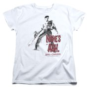 Mgm Army Of Darkness Name's Ash Womens Short Sleeve Shirt