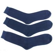 Beverly Hills Polo Club Men's Dress Socks, 62% Cotton, Size 10-13 (All Denim Blue)