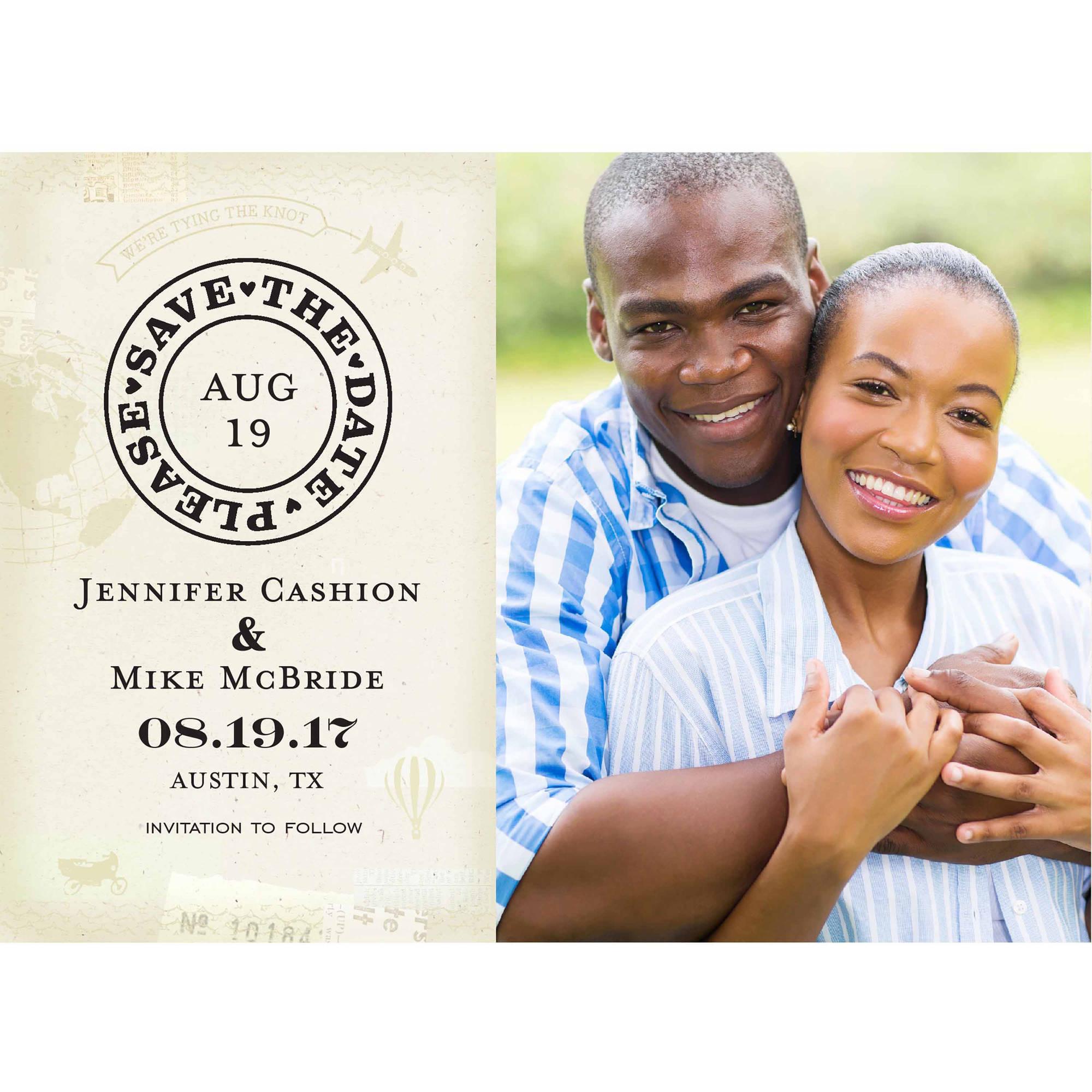 Destination Wedding Standard Save the Date