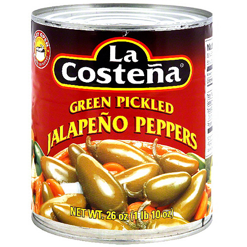 La Costena Green Pickled Sliced Jalapeno Peppers, 26 oz (Pack of 12)