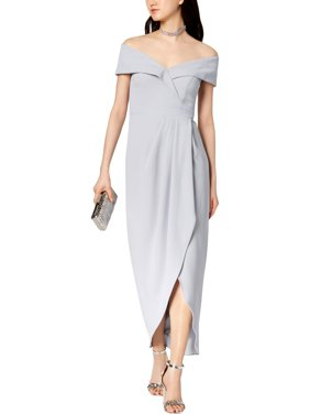 Xscape Womens Formal Split Hem Evening Dress