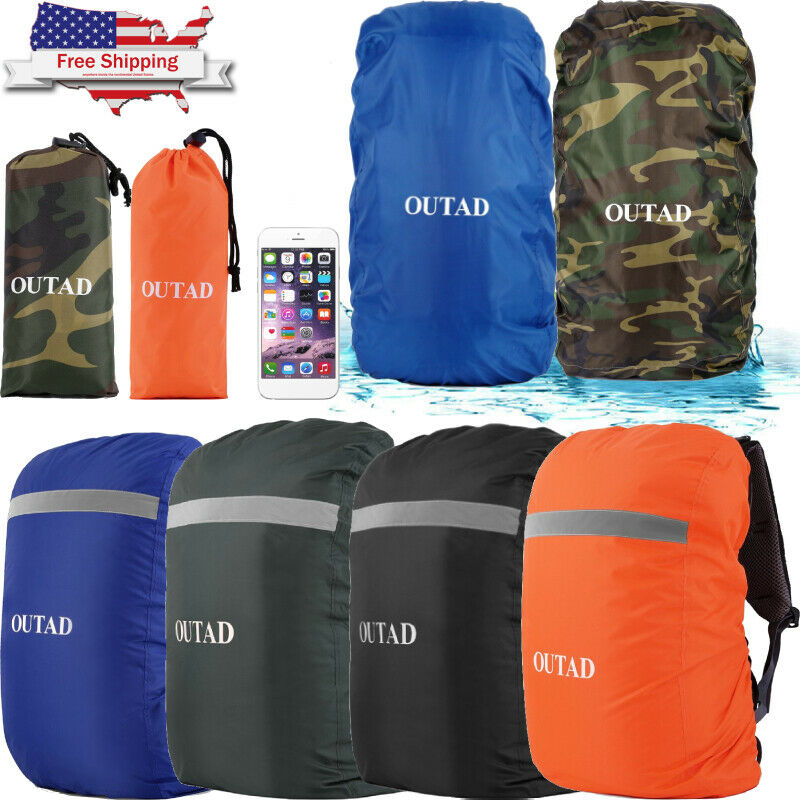 Details about  /Waterproof Backpack Rain Cover Bag Rucksack Dust Snow Protector Camping QV