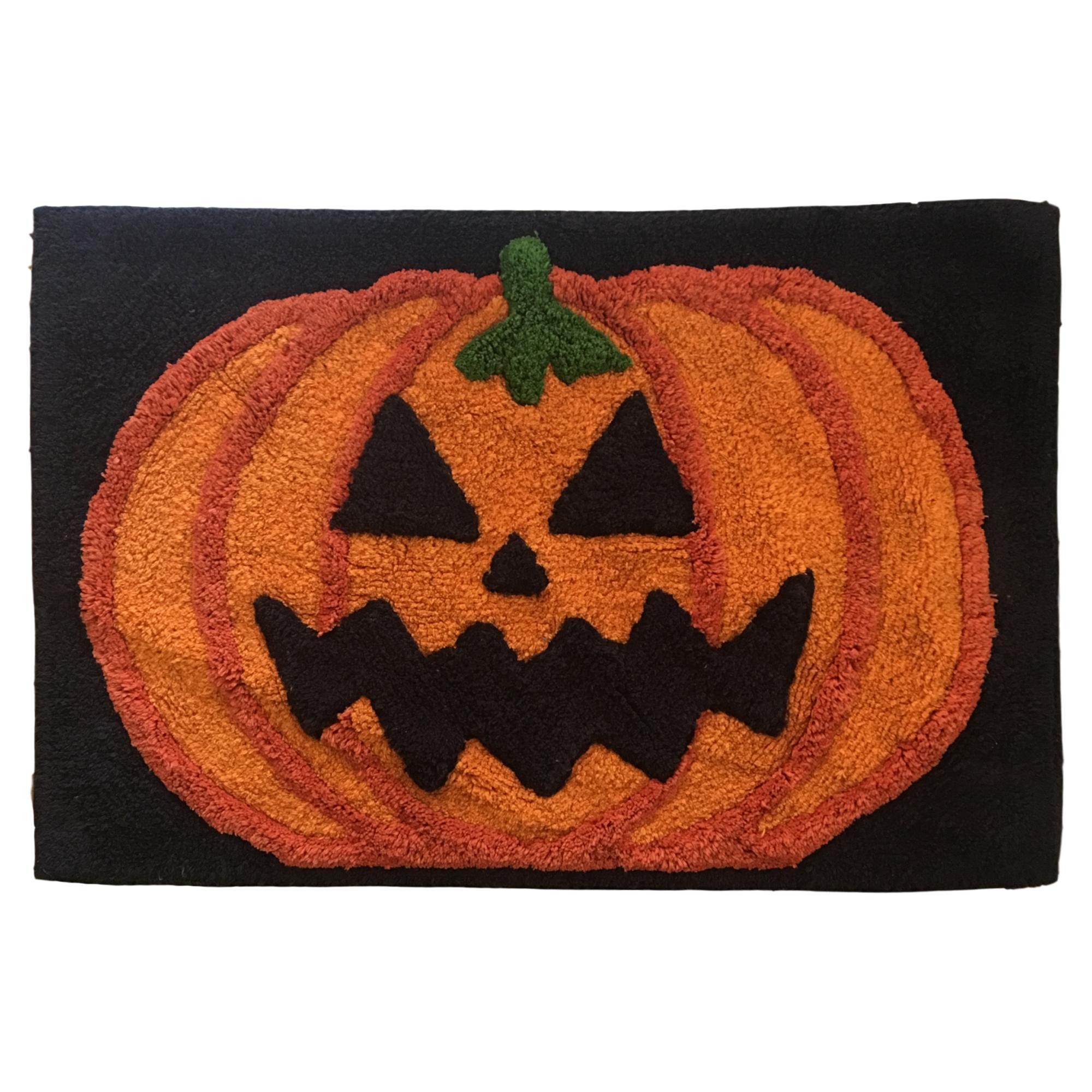 Celebrate Halloween Jack O Lantern Pumpkin Bath Rug 20x30 Accent Mat Walmart Com Walmart Com