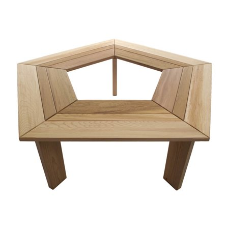 All Things Cedar 5 Sided Tree Bench - Western Red Cedar Cedar Creek Cedar Bench