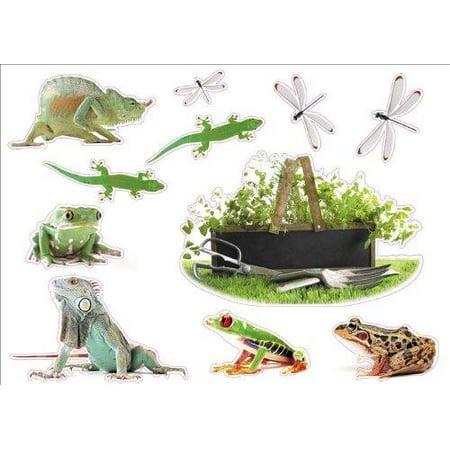 Lizard Sticker - Frogs & Lizard Artwork Room Décor Wall Sticker Decal, W-038