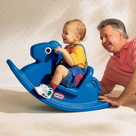Little Tikes Kids Rocking Horse - Classic Ride On Toy for Toddlers- Blue