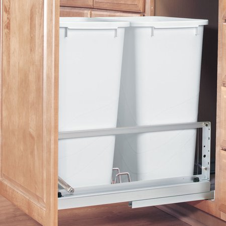 Rev-A-Shelf Double Soft Close Pull Out 50 qt. Trash Can