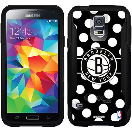 Brooklyn Nets Polka Dots Design on OtterBox Commuter Series Case for Samsung Galaxy S5 by