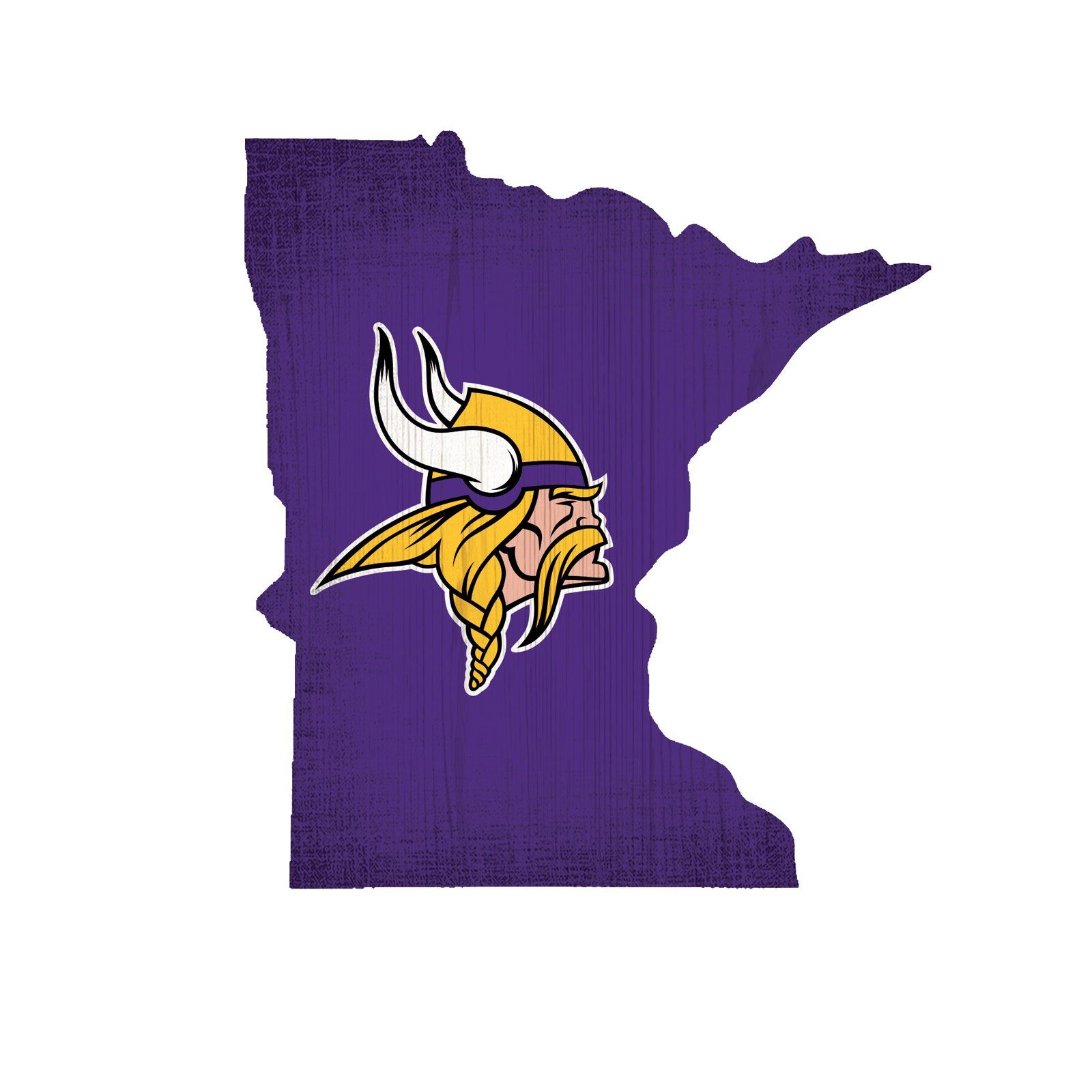 Fan Creations NFL Team Color Logo State Sign Wall Art