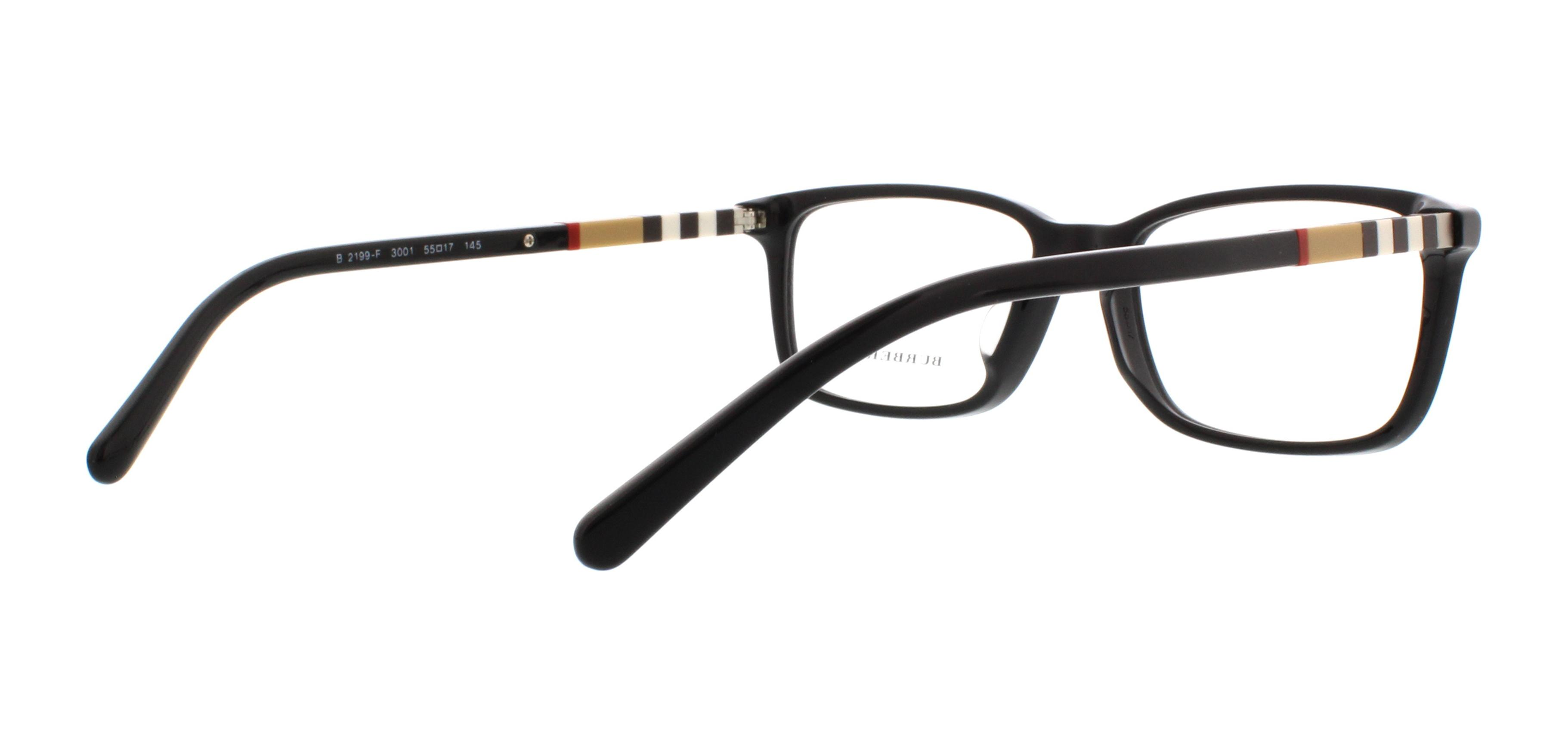 935a9b77dfe BURBERRY Eyeglasses BE 2199F 3001 Black 55MM - Walmart.com