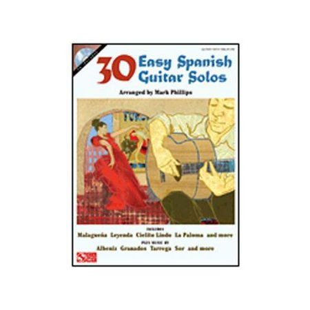 Hal Leonard 30 Easy Spanish Guitar Solos for EZ Guitar TAB (Book and