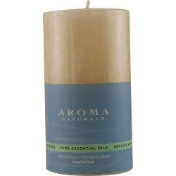 Mediation Aromatherapy 2.75 X 5 Inch Pillar Aromatherapy Candle. Combines The Essential Oils Of Patchouli & Frankincens