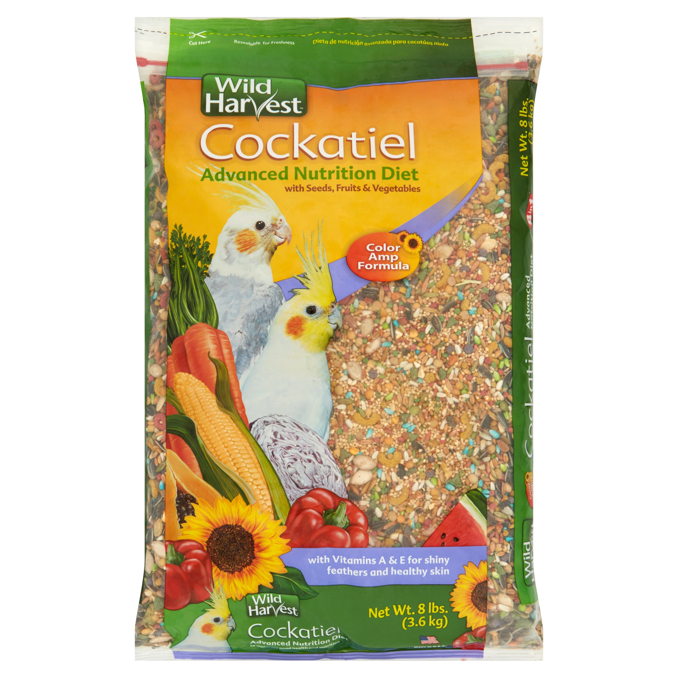 Wild Harvest Cockatiel Advanced Nutrition Diet Blend, 8 lb