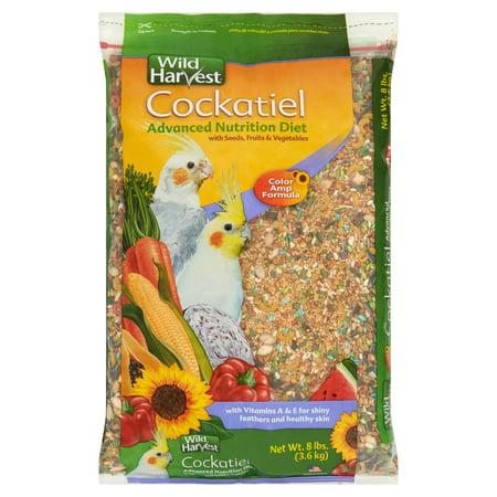 Wild Harvest Cockatiel Advanced Nutrition Diet Blend, 8 lb Bonanza Cockatiel Gourmet Diet