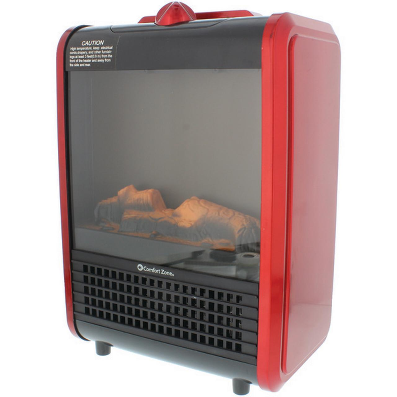 Comfort Zone Mini Ceramic Fireplace Heater