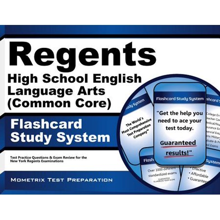 Regents High School English Language Arts Common Core Exam Flashcard Study System ()