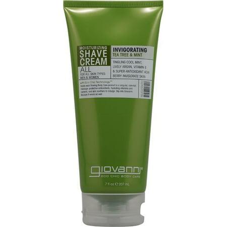 Giovanni Invigorating Shave Cream, Tea Tree And Mint, 7 Fl Oz