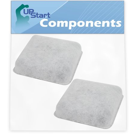 2-Pack Pet Water Fountain Charcoal Filter Replacement for Petmate Mason Replendish Waterer Pet Fountain - Compatible with Petmate Water Fountain Filter - UpStart Components Brand