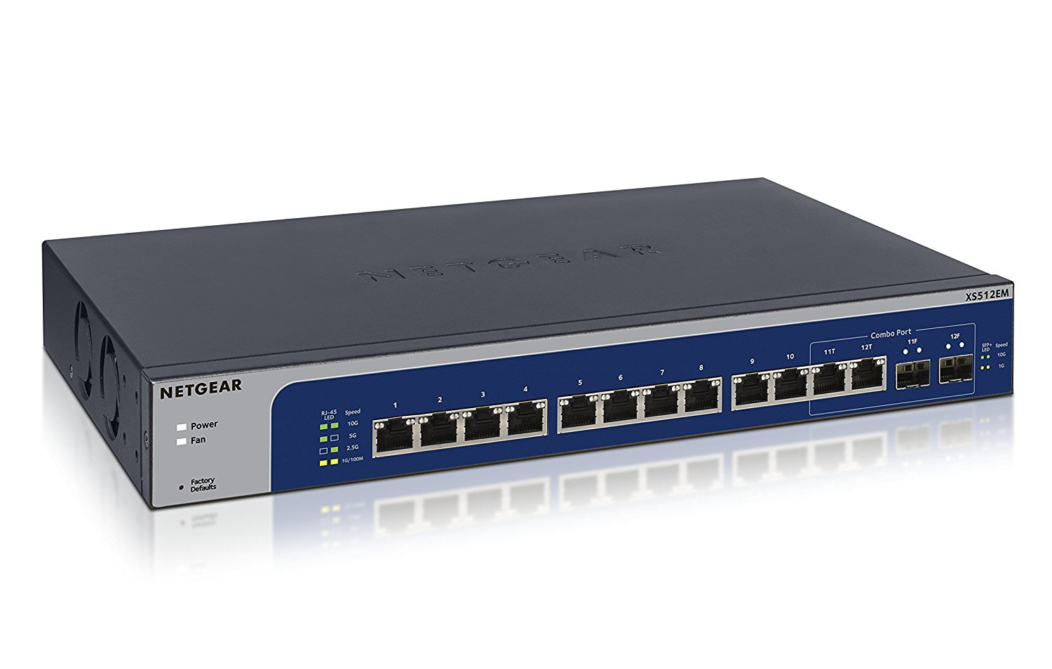 NETGEAR 12-port 10-Gigabit   Multi-Gigabit Ethernet Smart Managed Plus Switch by NETGEAR