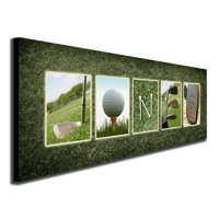 Personalized Golf Framed Canvas Wall Art, Live Preview, Choose Each Photo, Multiple Options