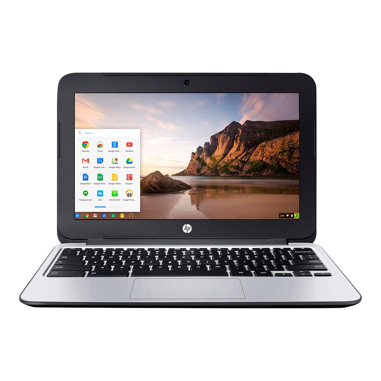 """Refurbished HP Chromebook 11 G3 11.6"""" LED Laptop Intel Celeron N2840 2.16 GHz - Black"""