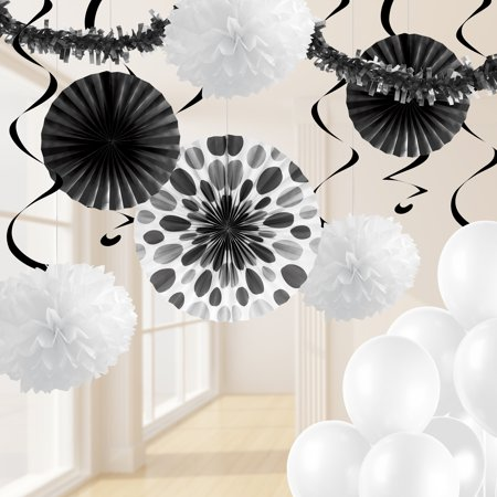 Black and White Party Decorations Kit - Decorations For A Black And White Party