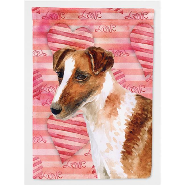 Carolines Treasures BB9734CHF Smooth Fox Terrier Love Flag - Canvas House Size - image 1 of 1